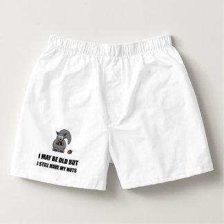 Alte Eichhörnchen-Nüsse Herren-Boxershorts