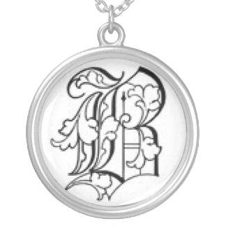 Alte englische Halskette der Initialen-B
