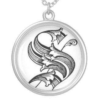 Alte englische Halskette der Initialen-S