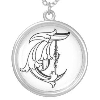 Alte englische Halskette der Initialen-T