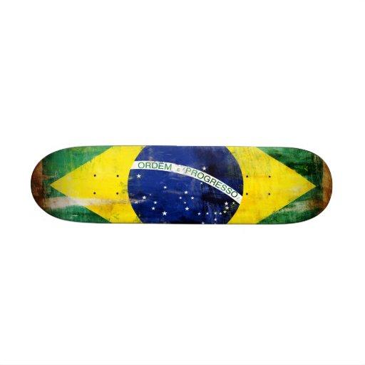 Alte Flagge Brasiliens Personalisiertes Skateboard