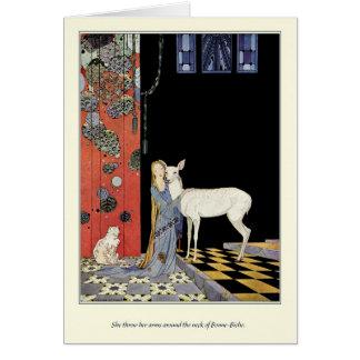 Alte französische Märchen: Bonne-Biche Grußkarte