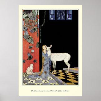 Alte französische Märchen: Bonne-Biche Plakatdruck