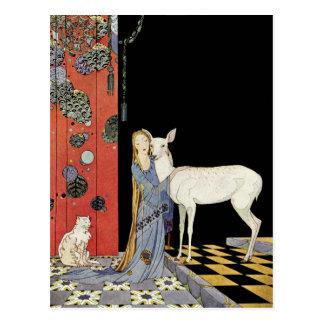 Alte französische Märchen: Bonne-Biche Postkarte
