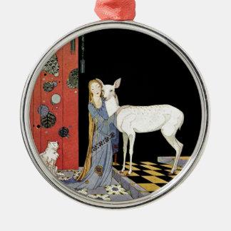 Alte französische Märchen: Bonne-Biche Rundes Silberfarbenes Ornament