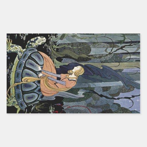 Alte französische Märchen: Durch den Wald Rechteckige Sticker