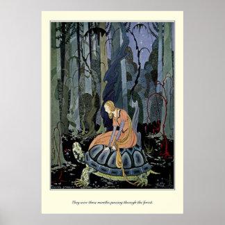 Alte französische Märchen: Durch den Wald Poster