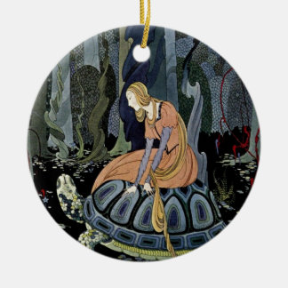 Alte französische Märchen: Durch den Wald Rundes Keramik Ornament
