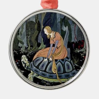 Alte französische Märchen: Durch den Wald Rundes Silberfarbenes Ornament