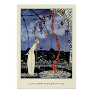 Alte französische Märchen: Ein Baum der erstaunlic Posterdruck