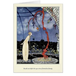 Alte französische Märchen: Ein Baum der Grußkarte