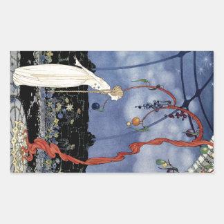 Alte französische Märchen: Ein Baum der Rechteckiger Aufkleber