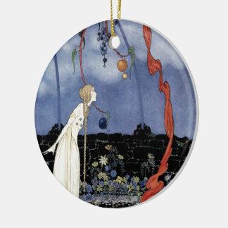 Alte französische Märchen: Ein Baum der Rundes Keramik Ornament