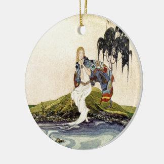 Alte französische Märchen: In meinem Gebiet Rundes Keramik Ornament