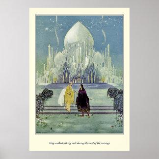 Alte französische Märchen: Sie gingen nebeneinande Plakate