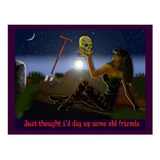 alte Freunde Postkarte