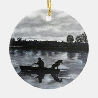 Alte Freunde Rundes Keramik Ornament