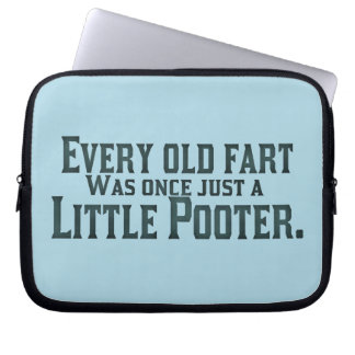 Alte Furz - wenig Pooter Laptopschutzhülle