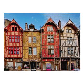 Alte Gebäude in Postkarte Troyes Frankreich
