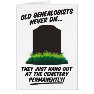 Alte Genealogists die nie Karte