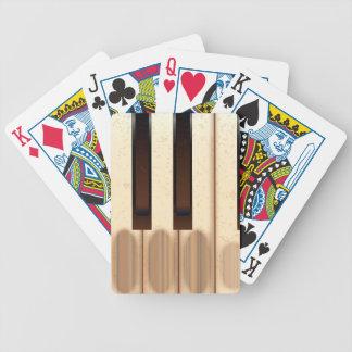 Alte getragene Klavier-Schlüssel Bicycle Spielkarten