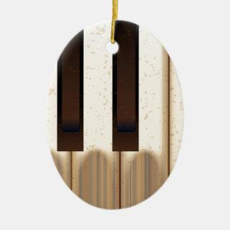 Alte getragene Klavier-Schlüssel Ovales Keramik Ornament