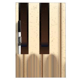 Alte getragene Klavier-Schlüssel Trockenlöschtafel