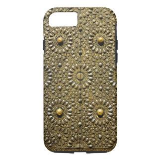 Alte goldene Arabeske-Muster-Tür-starker Kasten iPhone 8/7 Hülle