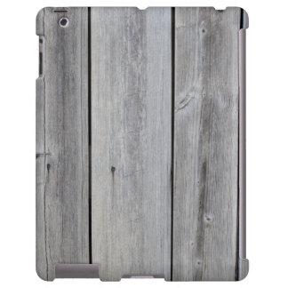 Alte graue Scheunenwand iPad Hülle