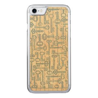 Alte grüne Schlüssel-viktorianische gealterte Carved iPhone 8/7 Hülle