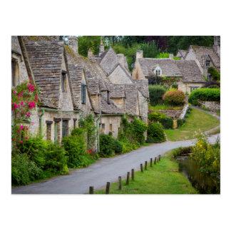 Alte Häuser errichtet für die lokalen Weber Postkarte