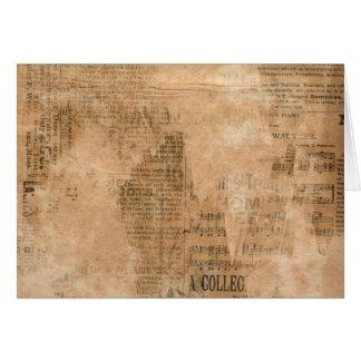 Alte heftige Vintage Zeitung zwei Karte