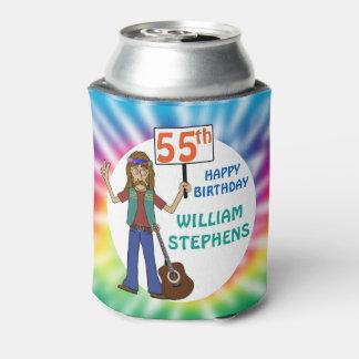 Alte Hippie-Hippy Krawatten-55. Geburtstags-Party Dosenkühler
