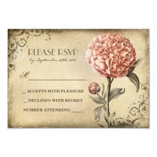 alte Hochzeit UAWG-Karte mit rosa Personalisierte Einladungen