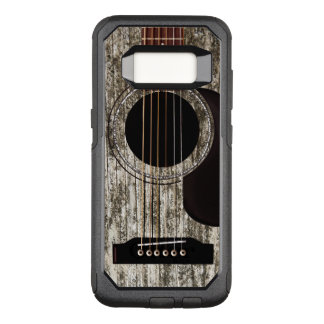 Alte hölzerne Akustikgitarre OtterBox Commuter Samsung Galaxy S8 Hülle