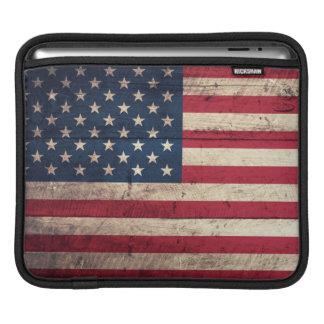 Alte hölzerne amerikanische Flagge Sleeve Für iPads