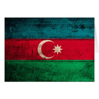 Alte hölzerne Aserbaidschan-Flagge Karte