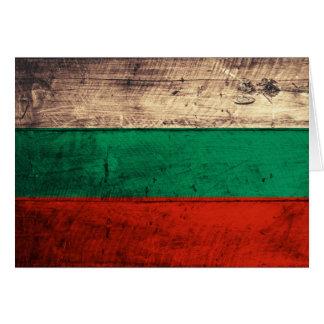 Alte hölzerne Bulgarien-Flagge Grußkarten