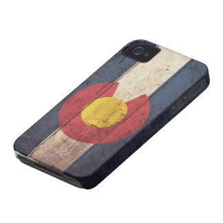 Alte hölzerne Colorado-Flagge iPhone 4 Cover