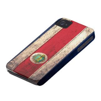 Alte hölzerne Costa Rican Flagge