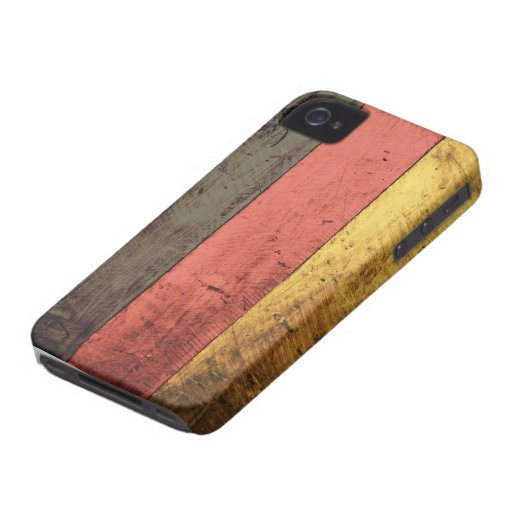 Alte hölzerne Deutschland-Flagge Case-Mate iPhone 4 Hülle