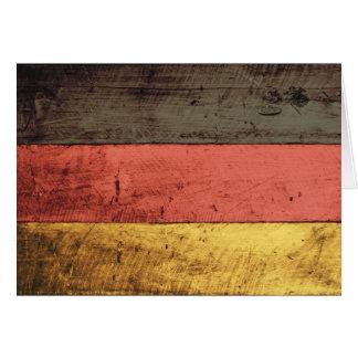 Alte hölzerne Deutschland-Flagge Karten