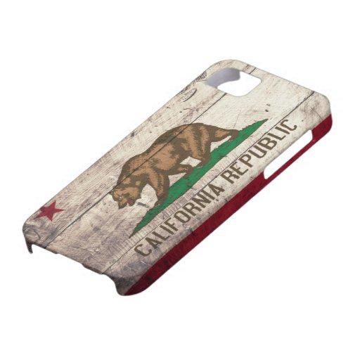 Alte hölzerne Kalifornien-Flagge iPhone 5 Cover