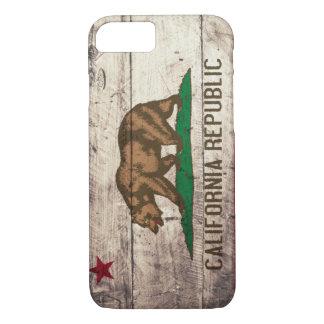 Alte hölzerne Kalifornien-Flagge iPhone 7 Hülle
