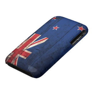 Alte hölzerne Neuseeland-Flagge iPhone 3 Hüllen