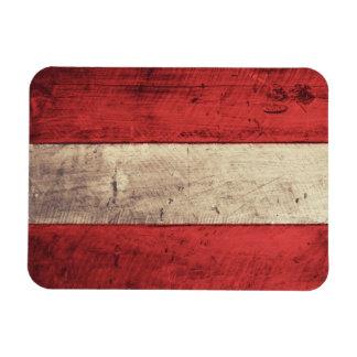 Alte hölzerne Österreich-Flagge Eckige Magnete