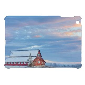 Alte hölzerne rote Scheune im unteren Tal Hülle Für iPad Mini