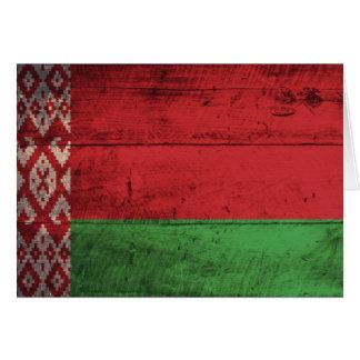 Alte hölzerne Weißrussland-Flagge Karten