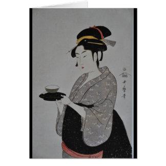 Alte japanische Malerei circa 1793 Grußkarte