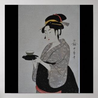Alte japanische Malerei circa 1793 Poster